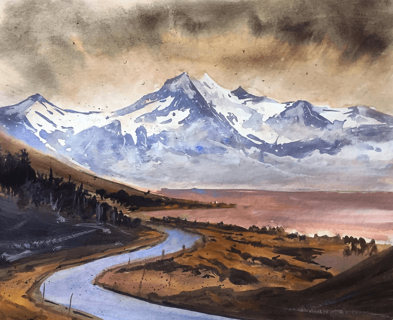 Watercolor-Mountains