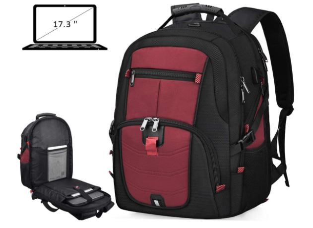 LAPTOP BACKPACK 17 INCH WATERPROOF EXTRA LARGE TSA TRAVEL BACKPACK