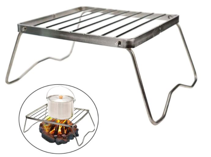 Collapsible Lightweight Backpacking Grill and stove