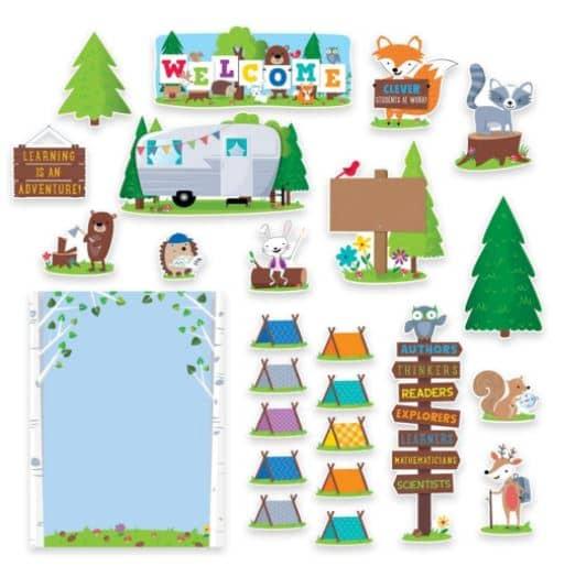 camping themed bulletin board
